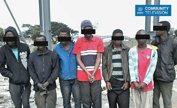 Seven burglars busted by an armed response officer in Mobeni