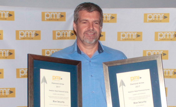 Blue Security voted Durban's best security company by PMR for 9th consecutive year